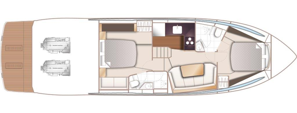 V50 Open Layout Lower Deck