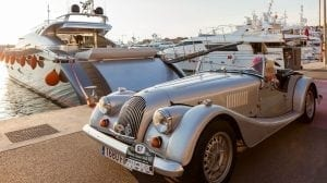 Beautiful classic car and yacht