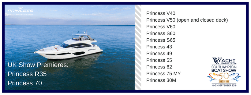 UK Boat Show Premieres Princess R35 and Princess 70