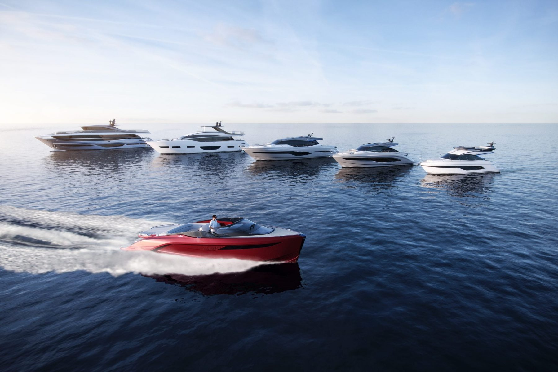 Princess motor yacht sales - six new models