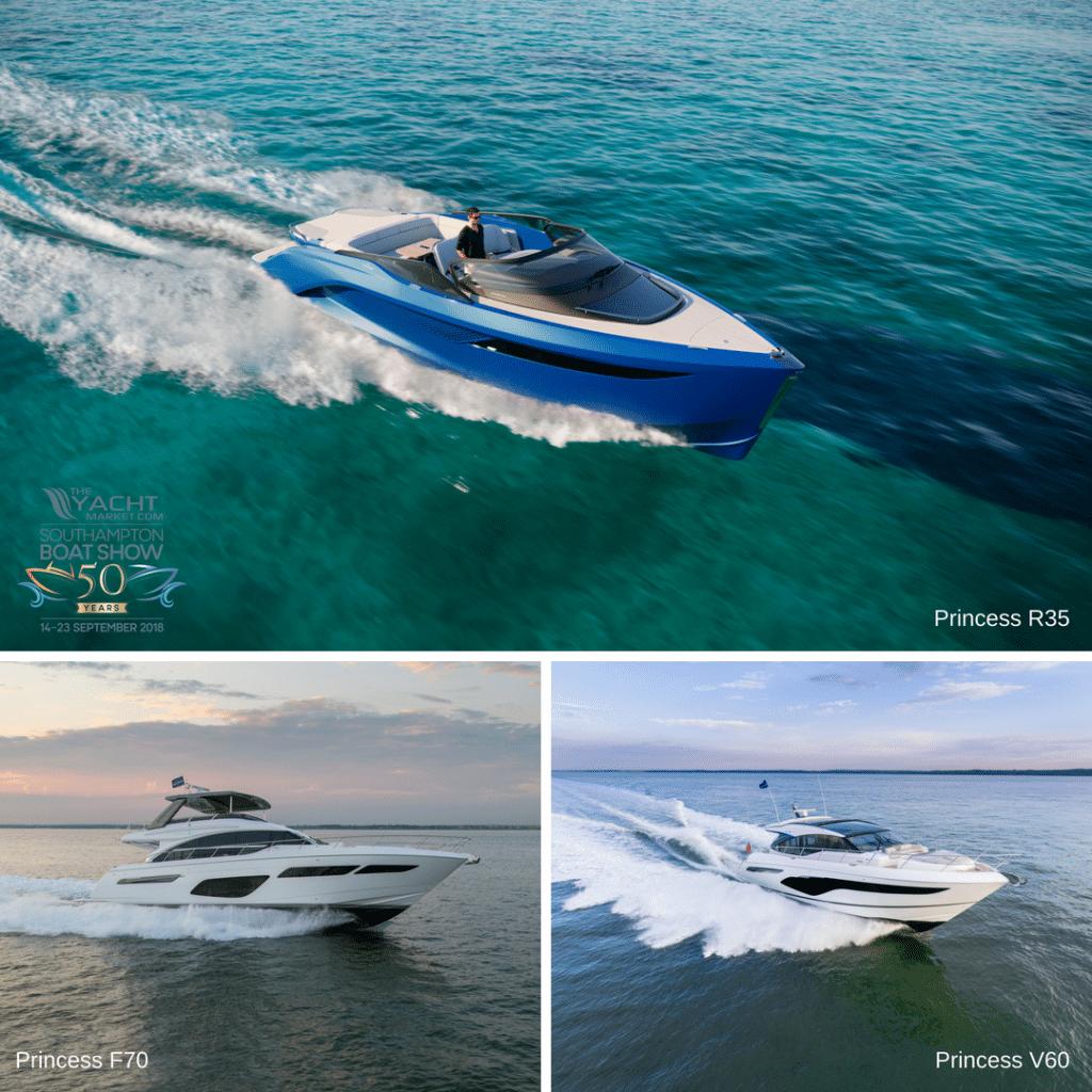Princess R35 F70 V60 motor yachts