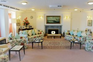 Sitting room on the Royal Yacht Britannia.